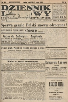 Dziennik Ludowy : organ Polskiej Partyi Socyalistycznej. 1922, nr101