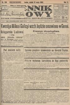 Dziennik Ludowy : organ Polskiej Partyi Socyalistycznej. 1922, nr105