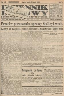 Dziennik Ludowy : organ Polskiej Partyi Socyalistycznej. 1922, nr106