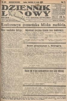 Dziennik Ludowy : organ Polskiej Partyi Socyalistycznej. 1922, nr107