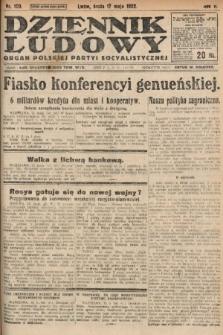 Dziennik Ludowy : organ Polskiej Partyi Socyalistycznej. 1922, nr109