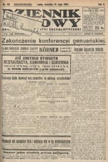 Dziennik Ludowy : organ Polskiej Partyi Socyalistycznej. 1922, nr113
