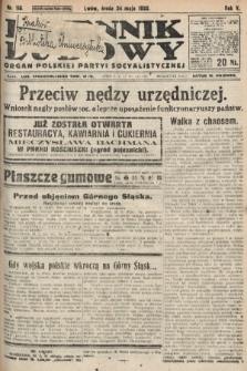 Dziennik Ludowy : organ Polskiej Partyi Socyalistycznej. 1922, nr115
