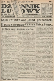 Dziennik Ludowy : organ Polskiej Partyi Socyalistycznej. 1922, nr117