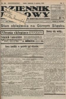 Dziennik Ludowy : organ Polskiej Partyi Socyalistycznej. 1922, nr124