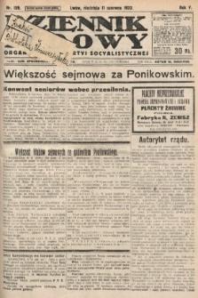 Dziennik Ludowy : organ Polskiej Partyi Socyalistycznej. 1922, nr129