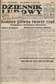 Dziennik Ludowy : organ Polskiej Partyi Socyalistycznej. 1922, nr135