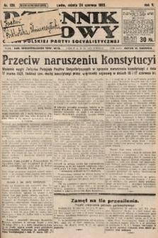 Dziennik Ludowy : organ Polskiej Partyi Socyalistycznej. 1922, nr139