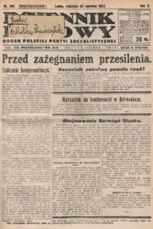 Dziennik Ludowy : organ Polskiej Partyi Socyalistycznej. 1922, nr140
