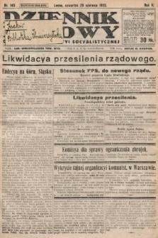 Dziennik Ludowy : organ Polskiej Partyi Socyalistycznej. 1922, nr143
