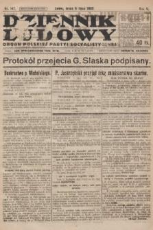 Dziennik Ludowy : organ Polskiej Partyi Socyalistycznej. 1922, nr147