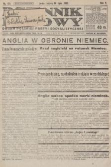 Dziennik Ludowy : organ Polskiej Partyi Socyalistycznej. 1922, nr155