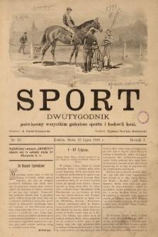 Sport : tygodnik poświęcony wszystkim gałęziom sportu i stosunkom towarzyskim. 1891, nr10