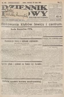 Dziennik Ludowy : organ Polskiej Partyi Socyalistycznej. 1922, nr163