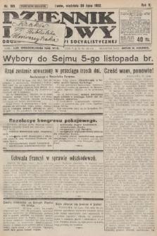 Dziennik Ludowy : organ Polskiej Partyi Socyalistycznej. 1922, nr169