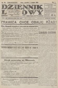 Dziennik Ludowy : organ Polskiej Partyi Socyalistycznej. 1922, nr172