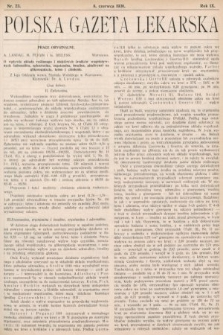 Polska Gazeta Lekarska. 1930, nr23