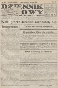 Dziennik Ludowy : organ Polskiej Partyi Socyalistycznej. 1922, nr173