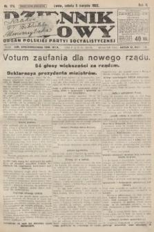Dziennik Ludowy : organ Polskiej Partyi Socyalistycznej. 1922, nr174