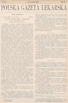 Polska Gazeta Lekarska. 1930, nr25