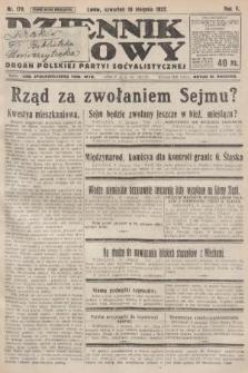Dziennik Ludowy : organ Polskiej Partyi Socyalistycznej. 1922, nr178