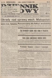 Dziennik Ludowy : organ Polskiej Partyi Socyalistycznej. 1922, nr181