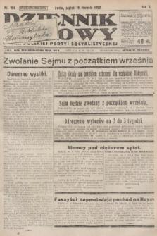 Dziennik Ludowy : organ Polskiej Partyi Socyalistycznej. 1922, nr184