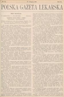 Polska Gazeta Lekarska. 1930, nr33