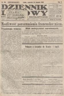 Dziennik Ludowy : organ Polskiej Partyi Socyalistycznej. 1922, nr189