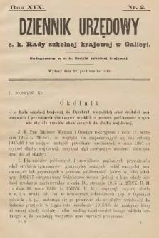 Dziennik Urzędowy C. K. Rady Szkolnej Krajowej w Galicyi. 1915, nr2