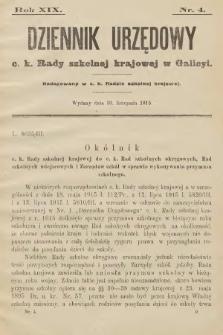 Dziennik Urzędowy C. K. Rady Szkolnej Krajowej w Galicyi. 1915, nr4