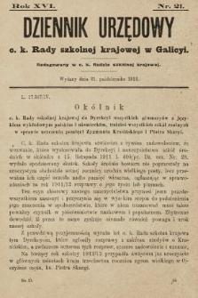 Dziennik Urzędowy c. k. Rady szkolnej krajowej w Galicyi. 1912, nr21