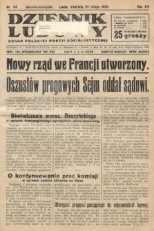 Dziennik Ludowy : organ Polskiej Partji Socjalistycznej. 1930, nr44