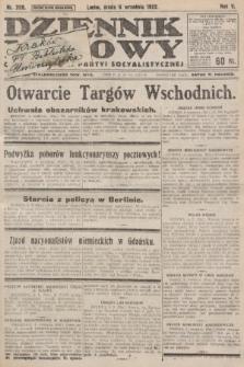 Dziennik Ludowy : organ Polskiej Partyi Socyalistycznej. 1922, nr200