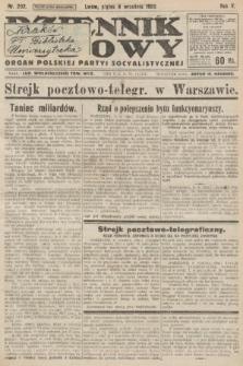 Dziennik Ludowy : organ Polskiej Partyi Socyalistycznej. 1922, nr202