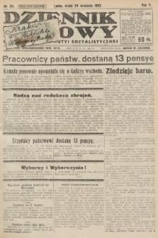 Dziennik Ludowy : organ Polskiej Partyi Socyalistycznej. 1922, nr211