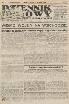 Dziennik Ludowy : organ Polskiej Partyi Socyalistycznej. 1922, nr212