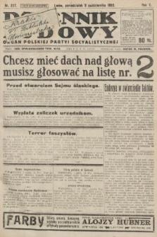Dziennik Ludowy : organ Polskiej Partyi Socyalistycznej. 1922, nr227