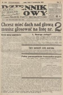 Dziennik Ludowy : organ Polskiej Partyi Socyalistycznej. 1922, nr228