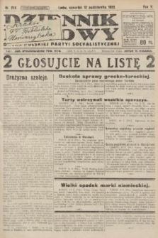 Dziennik Ludowy : organ Polskiej Partyi Socyalistycznej. 1922, nr229