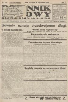 Dziennik Ludowy : organ Polskiej Partyi Socyalistycznej. 1922, nr235