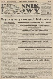 Dziennik Ludowy : organ Polskiej Partyi Socyalistycznej. 1922, nr237