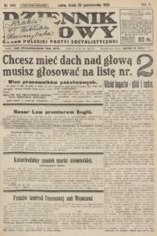 Dziennik Ludowy : organ Polskiej Partyi Socyalistycznej. 1922, nr240
