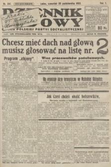 Dziennik Ludowy : organ Polskiej Partyi Socyalistycznej. 1922, nr241