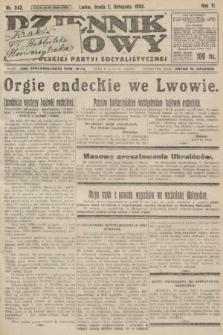 Dziennik Ludowy : organ Polskiej Partyi Socyalistycznej. 1922, nr242