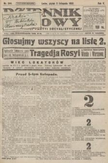 Dziennik Ludowy : organ Polskiej Partyi Socyalistycznej. 1922, nr244