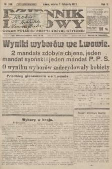 Dziennik Ludowy : organ Polskiej Partyi Socyalistycznej. 1922, nr248