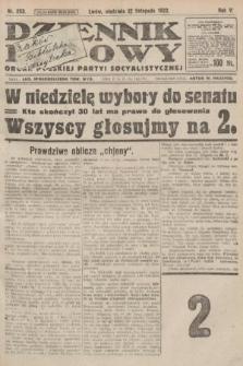 Dziennik Ludowy : organ Polskiej Partyi Socyalistycznej. 1922, nr253