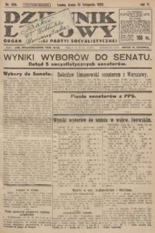 Dziennik Ludowy : organ Polskiej Partyi Socyalistycznej. 1922, nr255