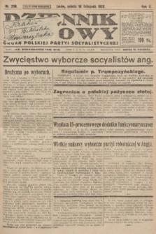 Dziennik Ludowy : organ Polskiej Partyi Socyalistycznej. 1922, nr258
